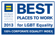 Voted one of the best places to work for LGBT equality.