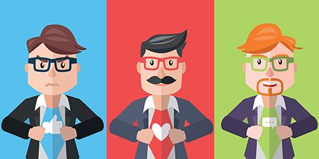 Les 5 super-héros des métiers du numérique en infographie