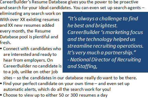 free demo careerbuilder india resume database