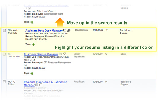 Move up in the search results