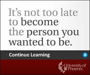 Continue learning at University of Phoenix