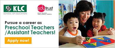 Interested to be a Preschool Teacher? :: Click Here to find out more!