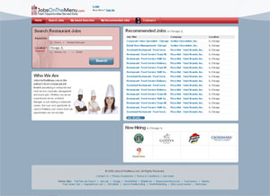 JobsOnTheMenu.com screenshot