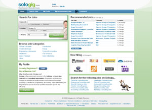 Sologig.com screenshot