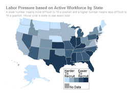 Labor Pressure based on Active Workforce by State