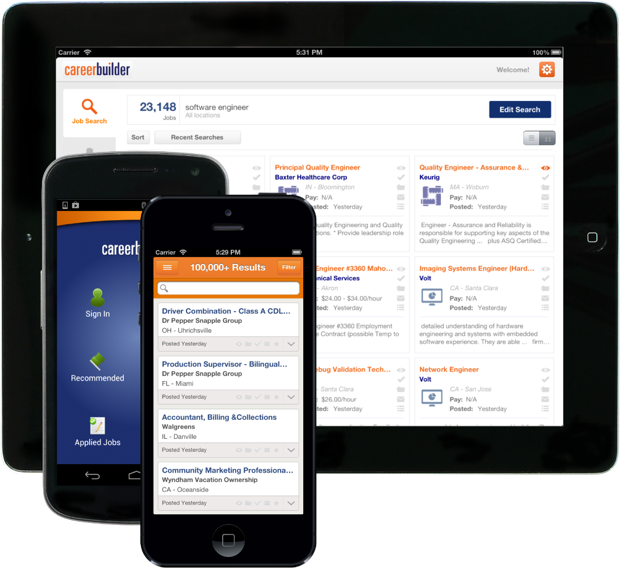 careerbuilder app for iphone and android