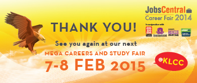 Thank you and see you at JobsCentral Career Fair 2015