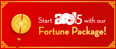 Start 2015 with our Fortune Package!